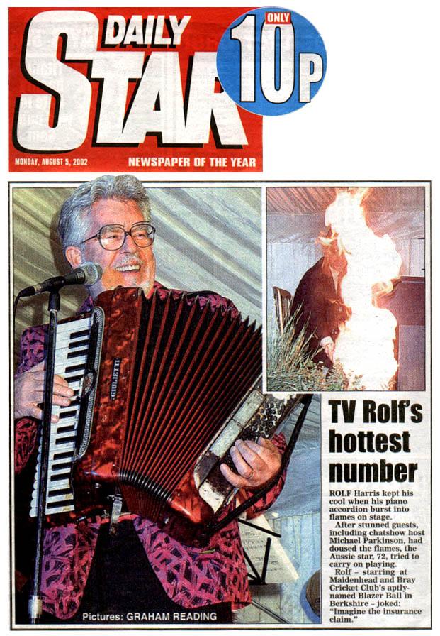 Rolf Harris Fire